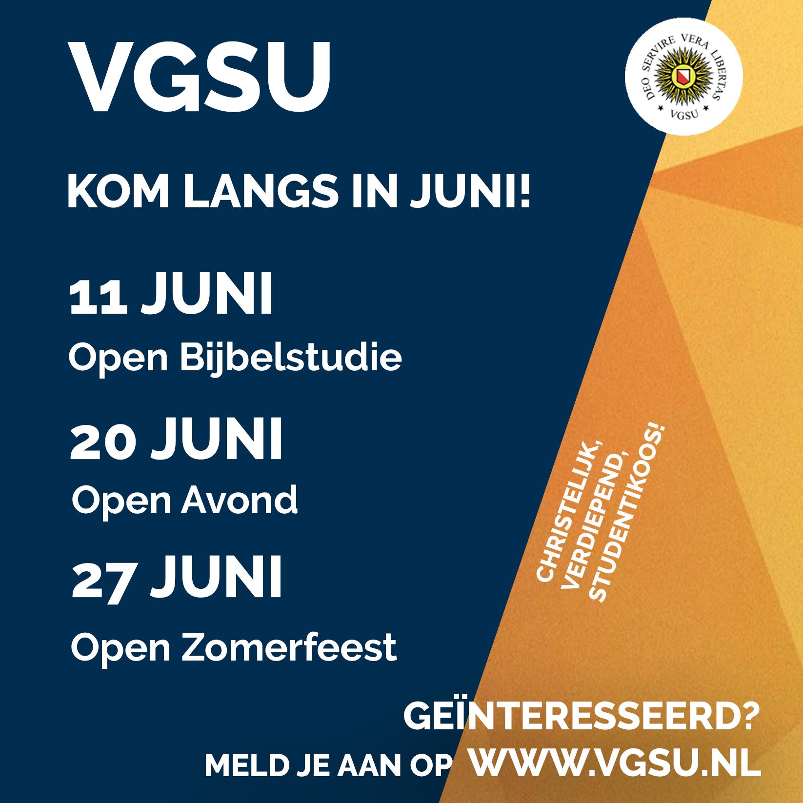 Open activiteiten in juni